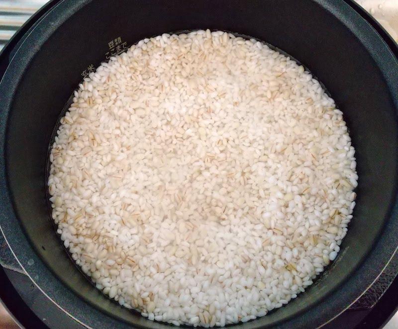 浸水後のお米