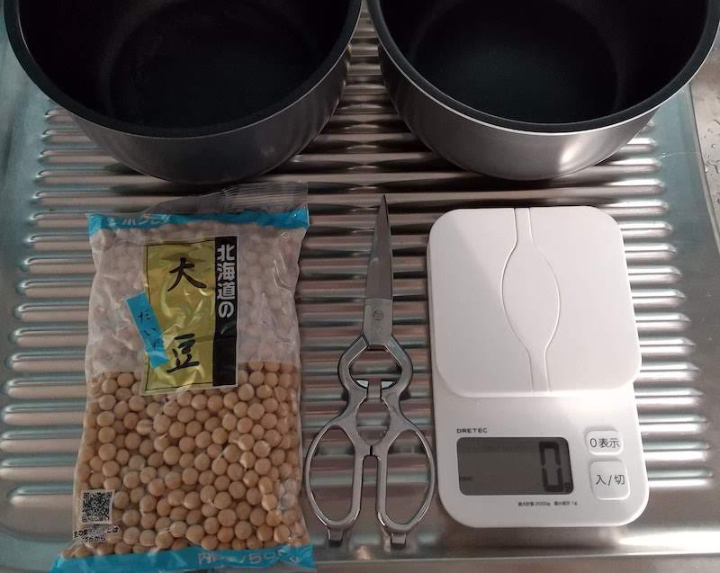 ゆで大豆の材料